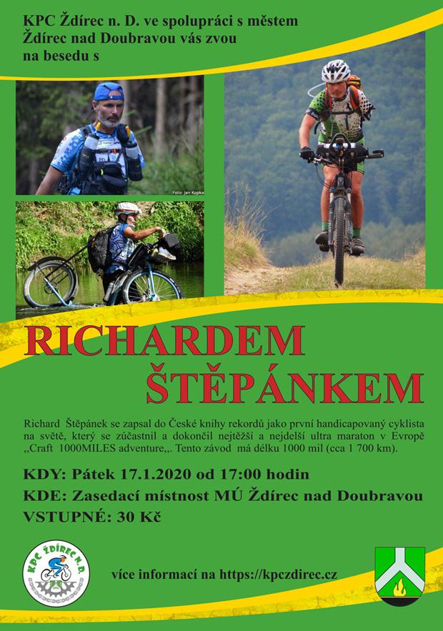 Plakát na besedu s Richardem Štěpánkem.